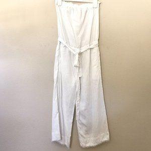 Cloth & Stone XS Jumpsuit Romper White Strapless